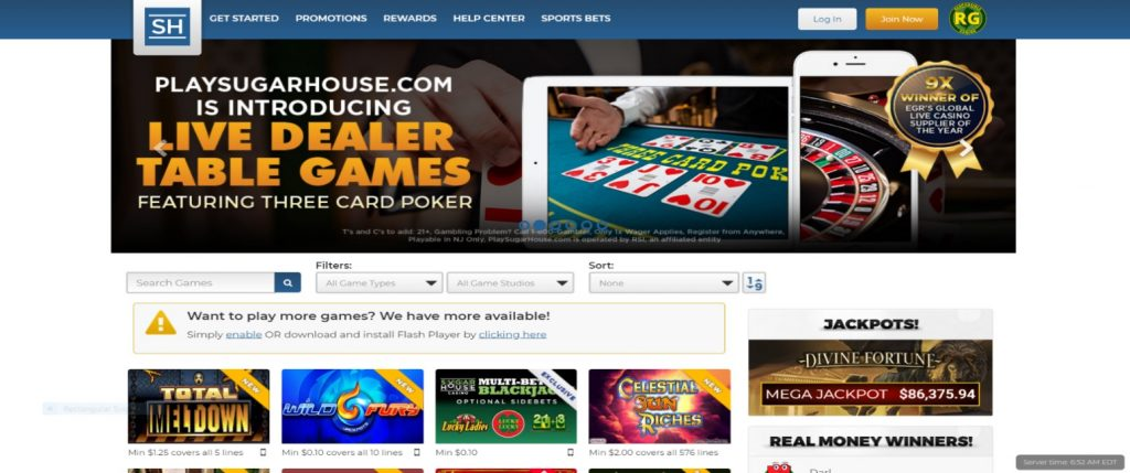 How to Register at SugarHouse Online Casino